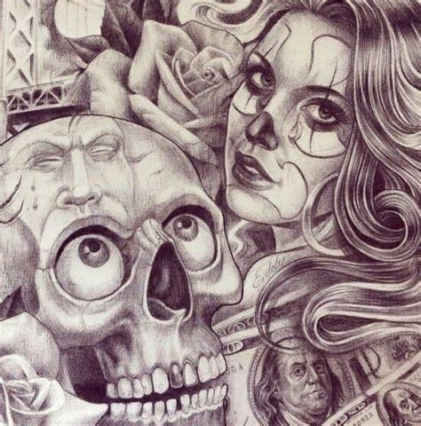 skull art art pinterest chicano chicano art and tattoo