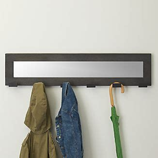 andes wall mounted coat rack coat racks standing and wall mounted crate and barrel
