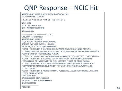 section 10 criminal record u les fbi national instant criminal background check