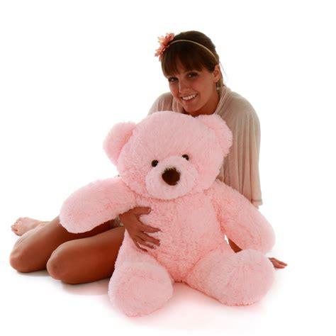 """Gigi Chubs 30"""" Pink Fluffy Big Stuffed Teddy Bear - Giant ... Giant Pink Teddy Bear"""
