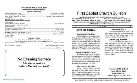 Awesome Church Bulletin Templates Microsoft Publisher Church Bulletin Templates Microsoft Publisher
