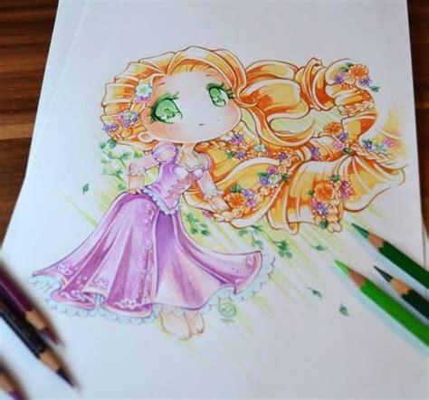 imagenes de rapunzel kawaii princesas disney tiernas dibujo lighane 5 disney