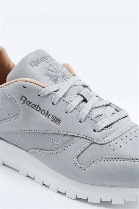 Reebok Gray by Reebok Classic Premium Grey Trainers In Gray Lyst