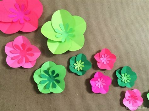 How To Make A Paper Flower Card - easy diy paper flowers tutorial diy inspired