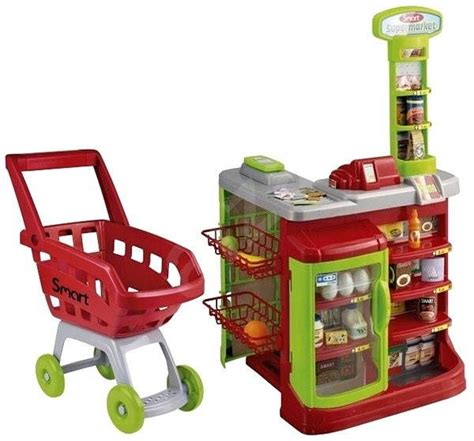 Trolley Mainan Anak Supermarket Set Spesial supermarket trolley with smart play set alzashop