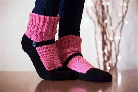 slippers that look like shoes knit slipper sock slippers sox raspberry pink