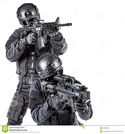 Swat White spec ops officer swat stock photo image 50669981