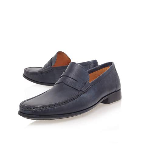 magnanni loafer magnanni leather loafer in blue for lyst