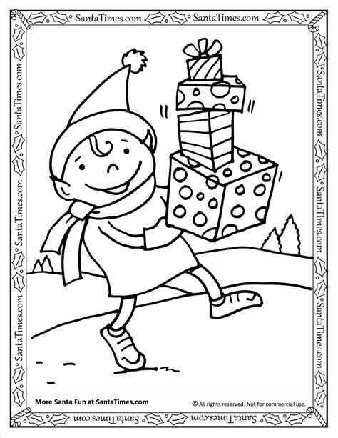santa s view coloring book for everyone books 100 coloring pages of elves elven linearts