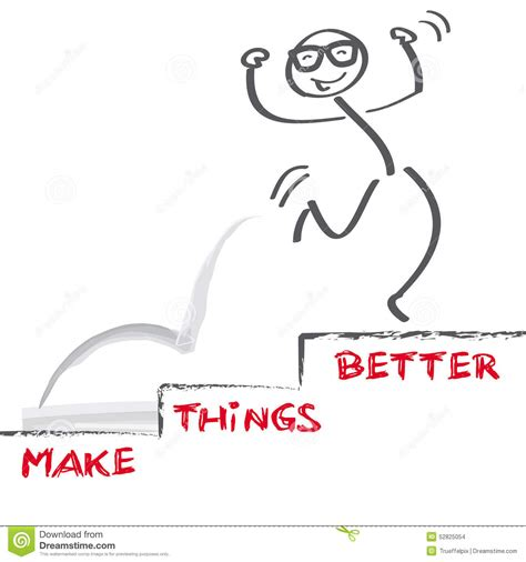 how to make things better make things better stock illustration image 52825054