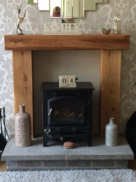 Oak Beam Above Fireplace by Place Solid Oak Beam Surround Mantle Shelf