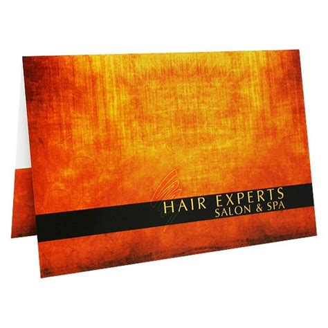 Hair Salon Gift Cards - folder design salon spa gift card holders by hair experts