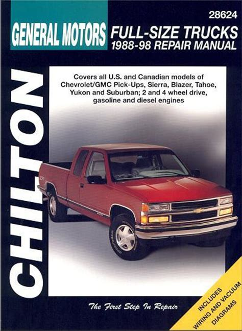 chevrolet gmc pick ups trucks 1988 1998 chilton owners service repair manual 0801991021