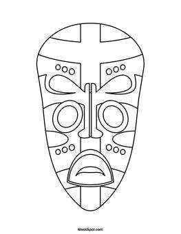 printable african mask printable african mask symmetry cc art pinterest