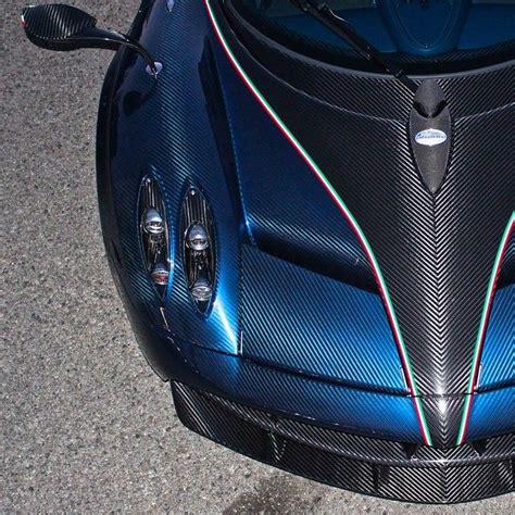pagani huayra carbon fiber pagani huayra with exposed blue and black carbon fiber