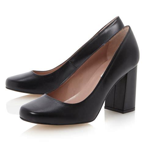Block Heel Shoes dune agaze block heel court shoes in black lyst
