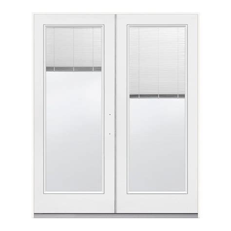 Jeld Wen French Patio Doors With Blinds Jeld Wen 72 In X 80 In White Left Hand Inswing French