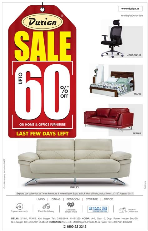 Furniture Sale by Durian Furniture Newspaper Advertisement Collection