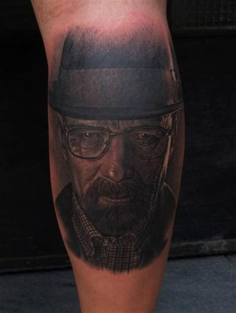 heisenberg tattoo arm portrait realistic walter white heisenberg by