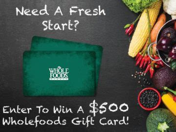 Whole Foods E Gift Card - buy whole foods e gift card food ideas