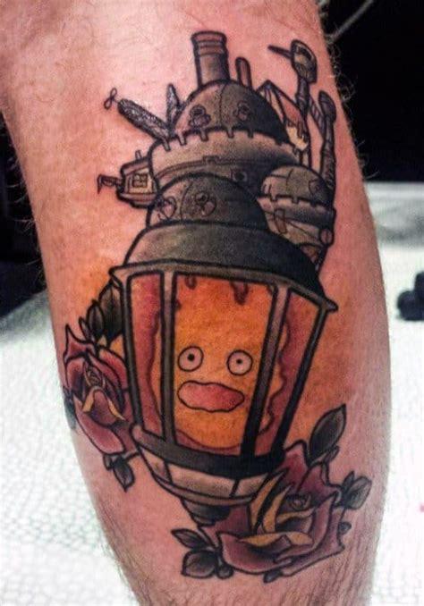 calcifer tattoo designs  men howls moving castle