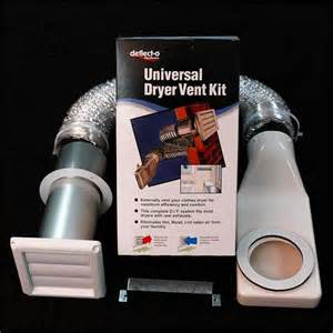 Venting Clothes Dryer Deflecto Universal Clothes Dryer Wall Exhaust Vent Kit Ebay