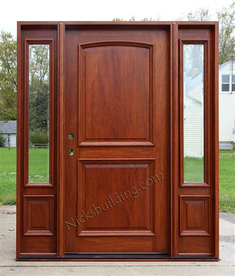 6 panel front door with sidelights mahogany 8 panel brown hairs