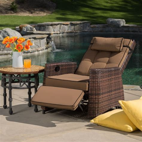 wicker outdoor reclining lounge chair outdoor lounge chairs  hayneedle