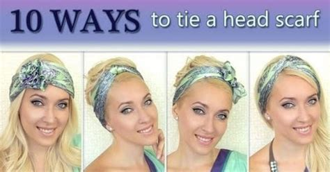best way to wear longer hair behind the ears 10 different ways to wear 1 scarf on your head how to tie