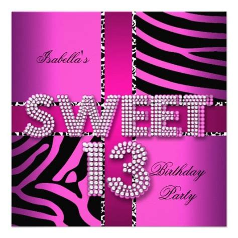 29 Best 13th Birthday Party Invitations Images On Pinterest Birthday Invitations Birthday 13th Birthday Invitation Templates Free