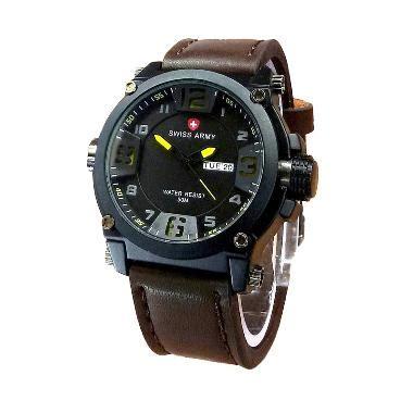 Jam Tangan Swiss Army Black Blue jual jam tangan pria original branded harga baru 2018