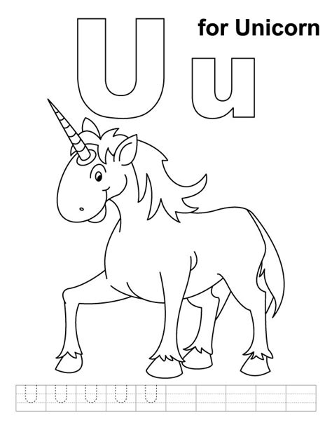 coloring pages for u free coloring pages of u is for unicorn