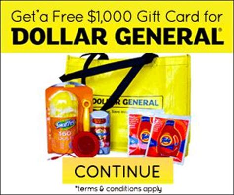 1000 Dollar Gift Card - free 1000 dollar general gift card free gift cards pinterest