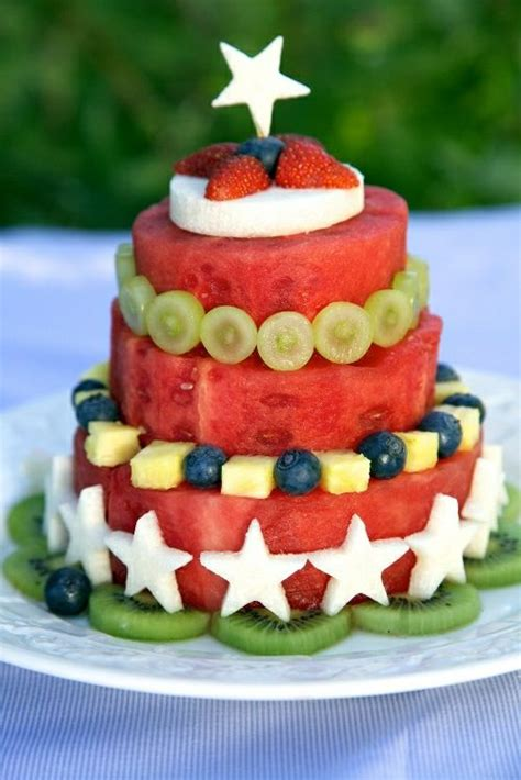 Watermelon Cake Decorating Ideas by Best 20 Fruit Decorations Ideas On Fruit