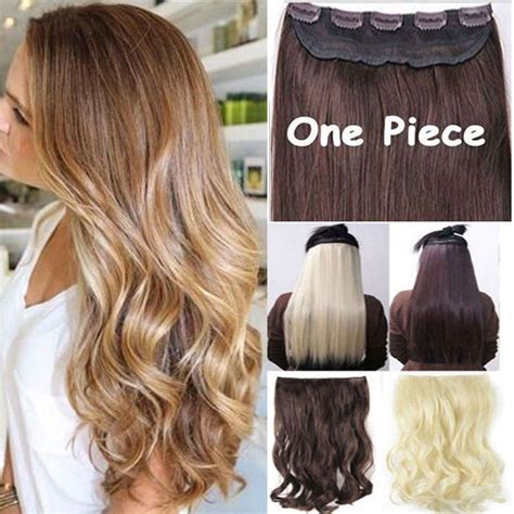 Long Real Hair Extensions | long straight curly wavy hair extension clip in hair