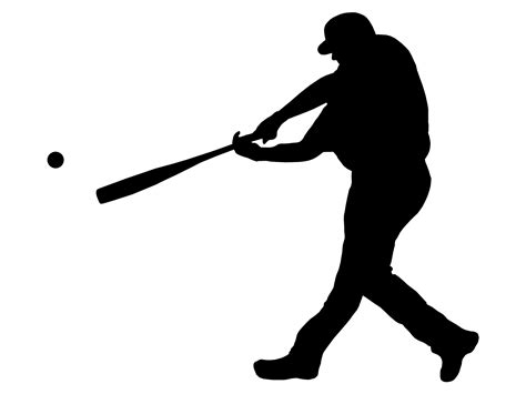 Sports Player Outline by Free Clipart Baseball Player Silhouette 2 Clipartix