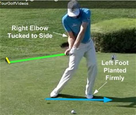 right sided swing nick watney golf swing downswing attack the ball