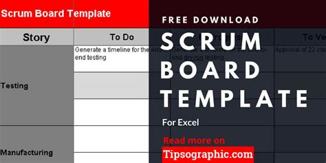 Scrum Board Template For Excel Free Download Tipsographic Scrum Meeting Template