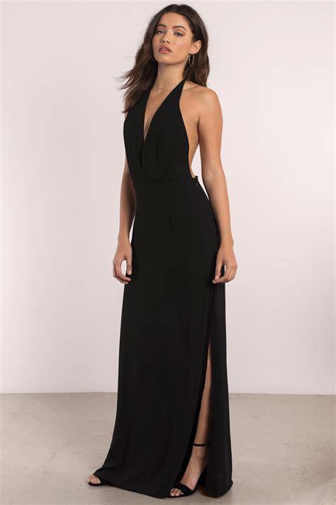 Lowback Dress black maxi dress exposed back dress 35 00