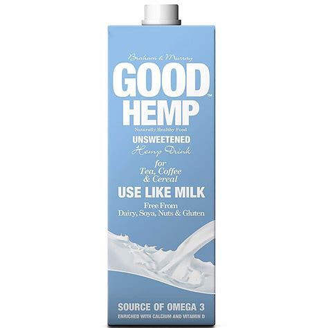 Hemp Milk And Hemp by Hemp Unsweetened Hemp Milk 1l Grain Seed Milks