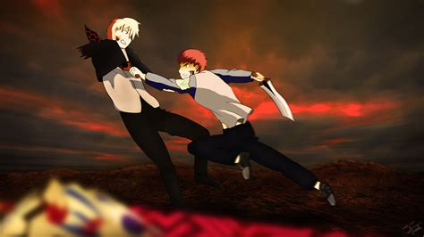 Fate Stay Night UBW Shirou VS Gilgamesh 4k Ultra HD Fondo