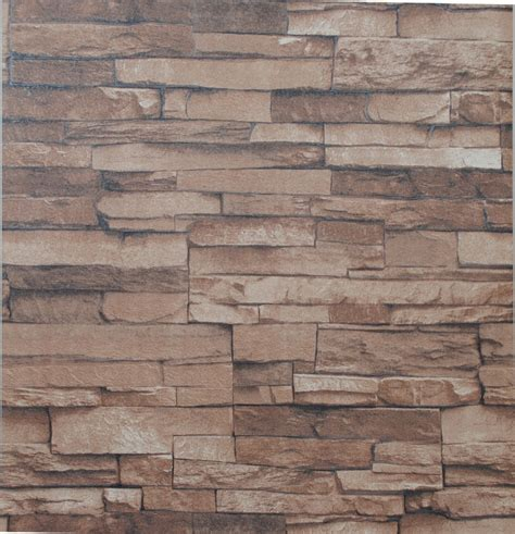 Vinyl Textured Embossed Brick Wall Wallpaper Modern 3d