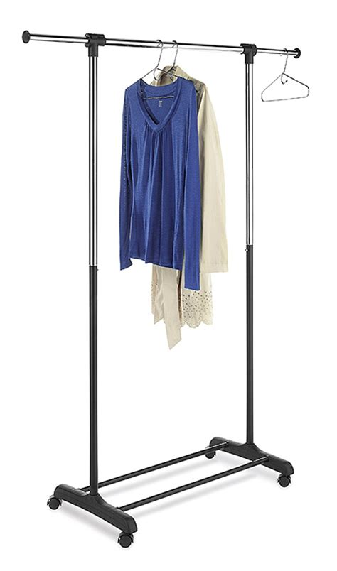 essential home extendable garment rack home storage