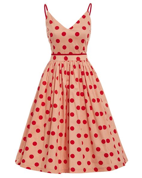 polka dot swing dress honor peach polka dot swing dress