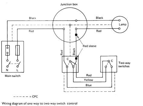 2 Way Light Switch Two Way Lighting Circuit Wiring Diagram Lighting