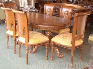 Meja Makan Jati Salina meja makan salina 6 kursi kayu jati ukiran jepara cahaya mebel jepara