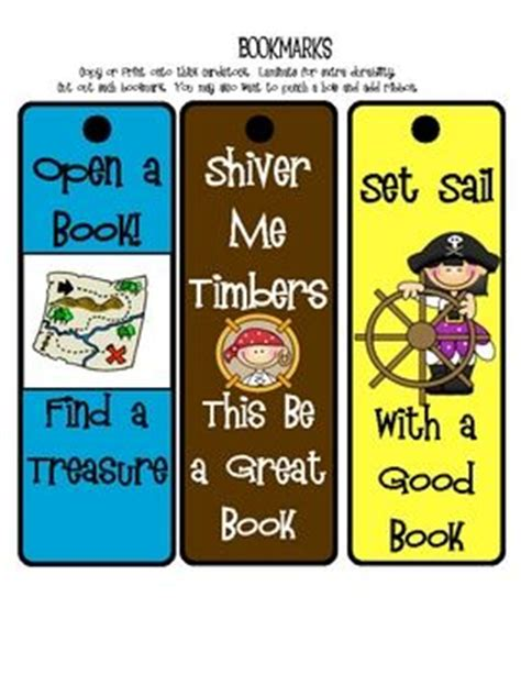 printable pirate bookmarks pinterest the world s catalog of ideas