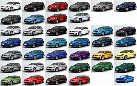 the colour spectrum of the vw golf 7 used daewoo cars