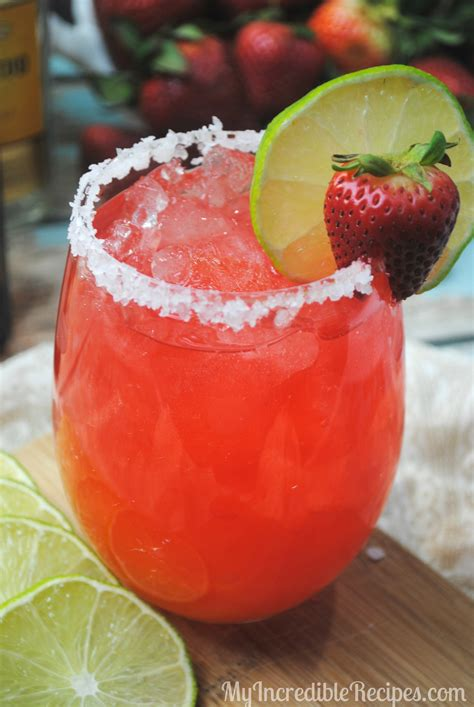 strawberry margarita fizzy strawberry margarita punch