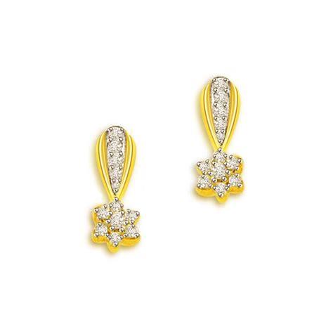 flower design diamond earrings 0 30 cts flower design 18k diamond earrings buy diamond